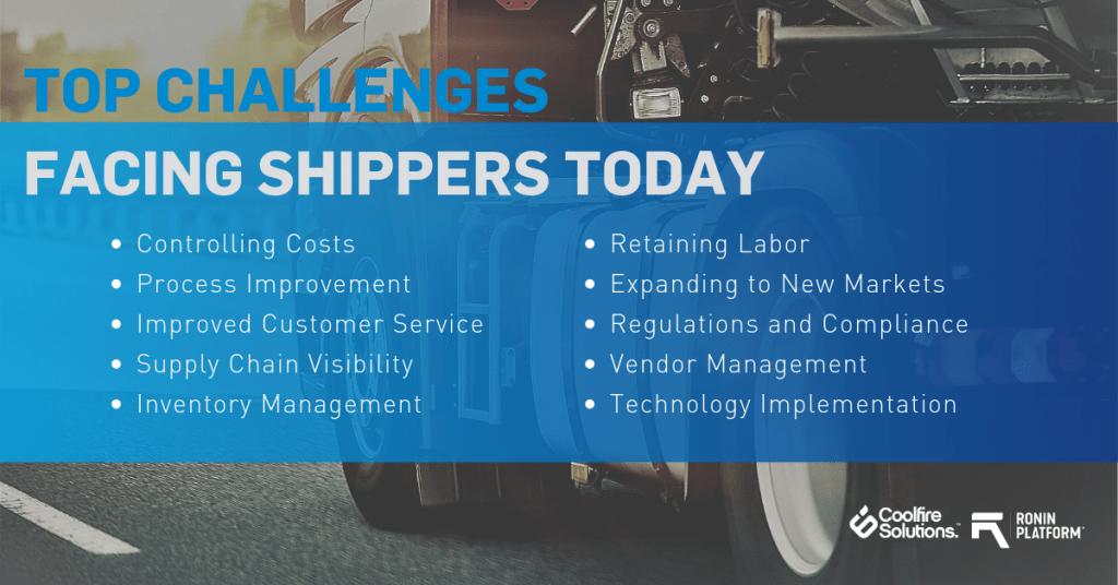 list of challenges faced by transportation and logistics companies
