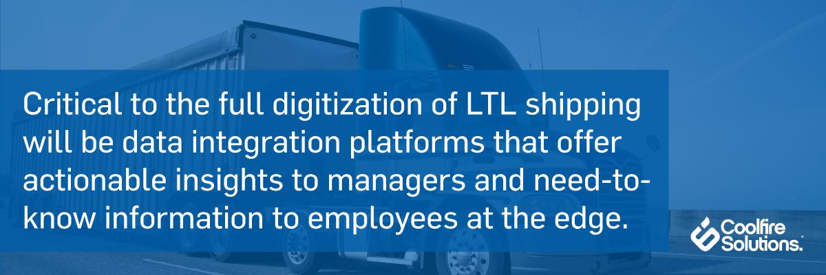 LTL shipping-data integration platforms