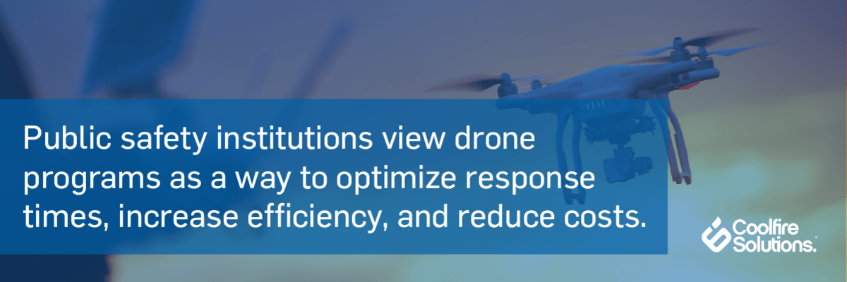 drones optimize public safety response times