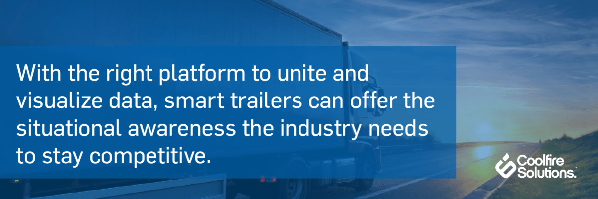 Smart trailers-situational awareness